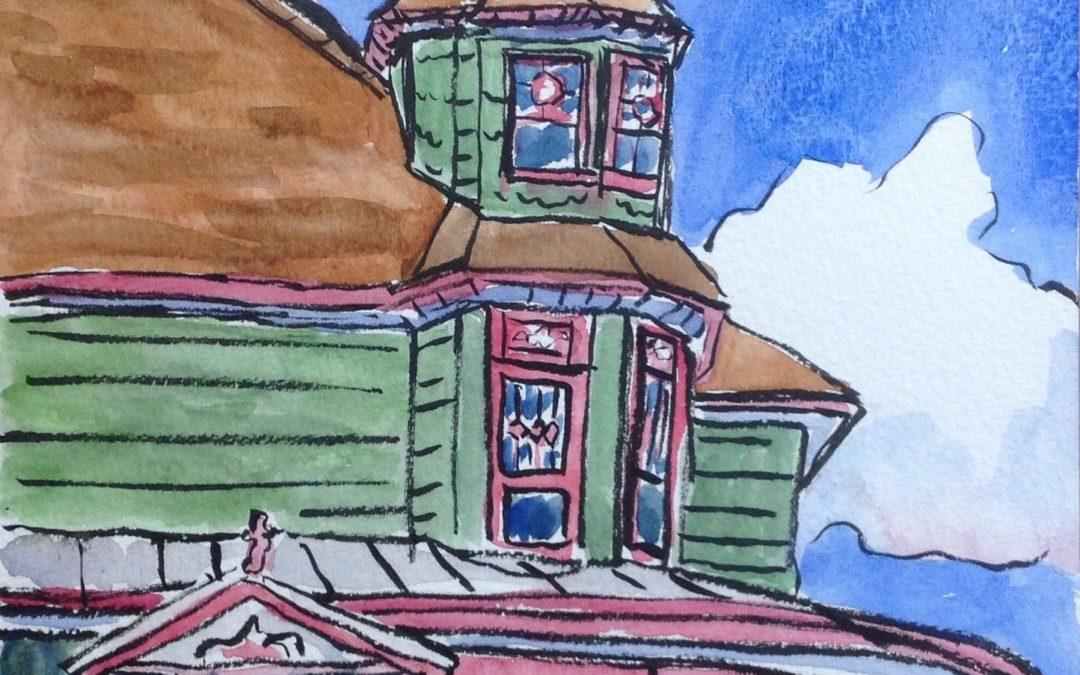 Morning Urban Sketching in Spokane's Historic Browne's Addition Neighborhood