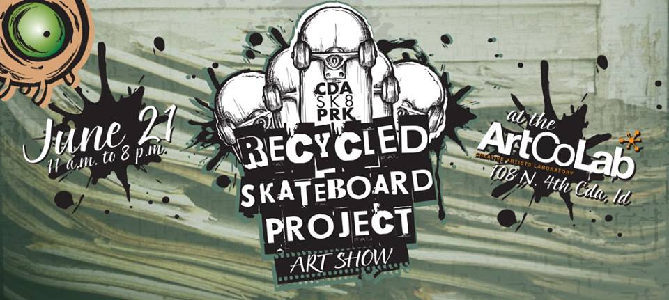 Recycled Skateboard Art Show